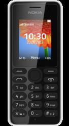Nokia 108 Black  (Silver-66753)