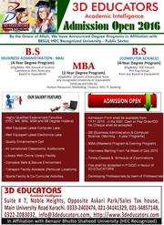 Bachelor's & Master's Program in 3D Educators